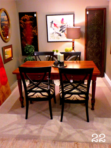 dining set black table