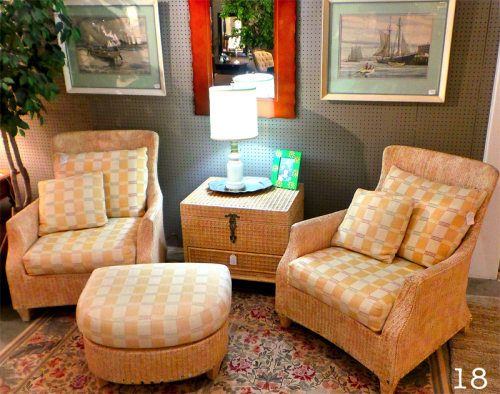 wicker chairs with ottoman